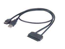 Akasa Flexstor eSATA - SATA kábel 40cm (AK-CBSA03-80BK)