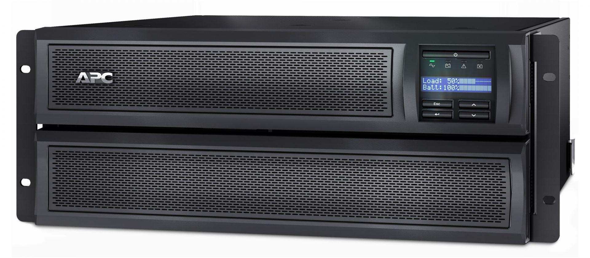 APC Smart-UPS X 2200VA Short Depth Tower/Rack Convertible LCD 200-240V with Network Card (SMX2200HVNC)