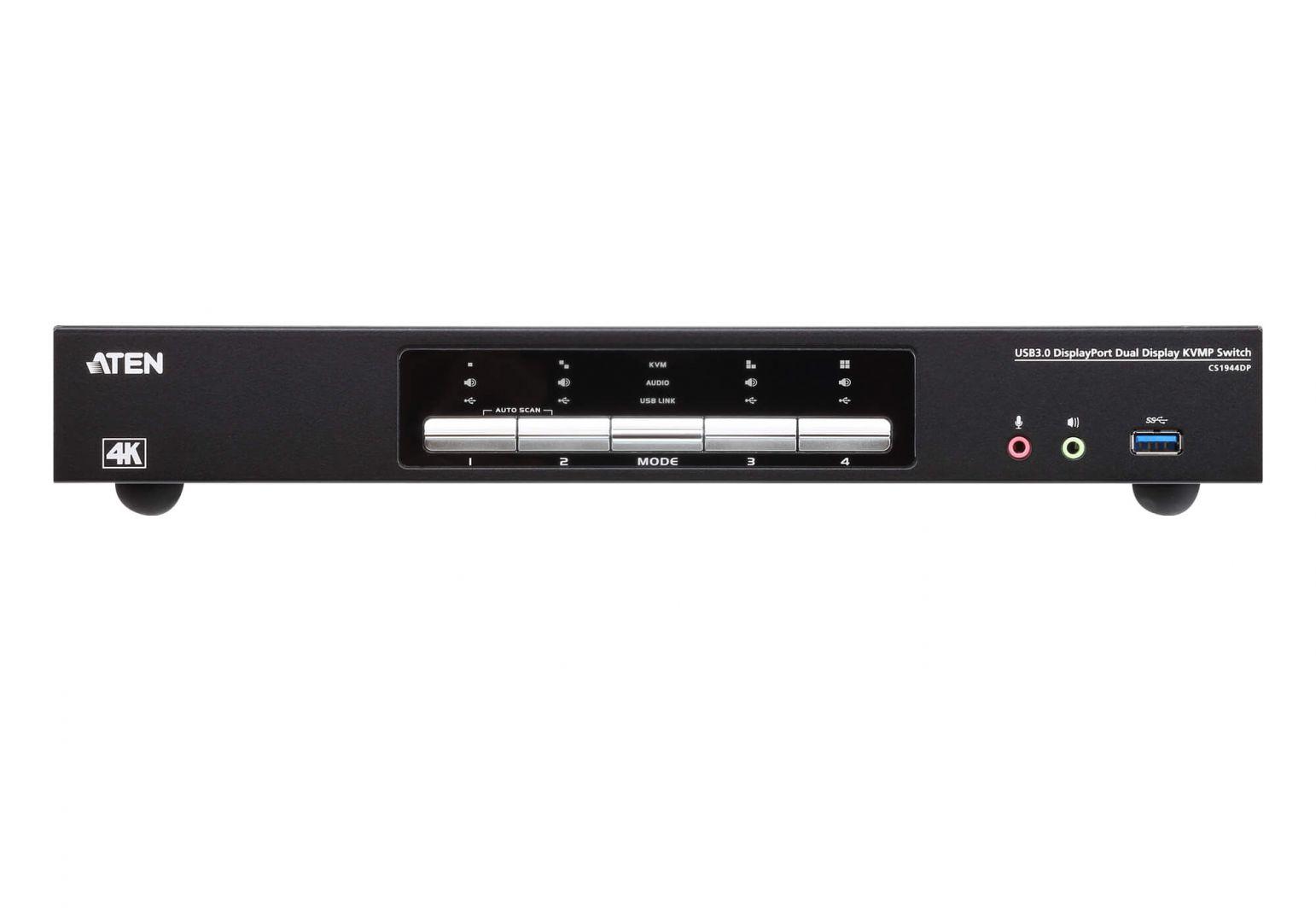 ATEN 4-Port USB 3.0 4K DisplayPort Dual Display KVMP Switch (CS1944DP-AT-G)