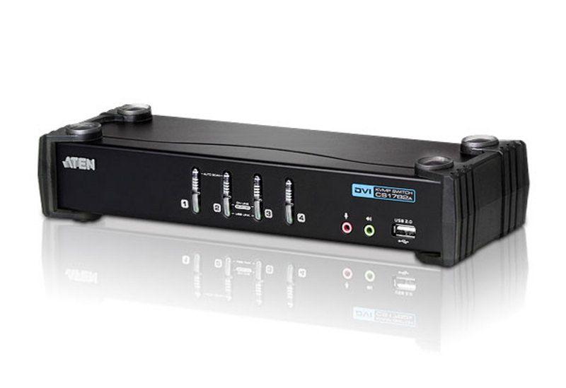 ATEN CS1764A 4-Port USB DVI/Audio KVMP Switch (CS1764)