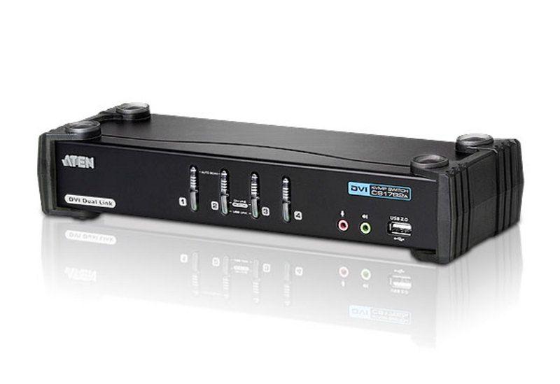 ATEN CS1784A 4-Port USB DVI Dual Link/Audio KVMP Switch (CS1784A)