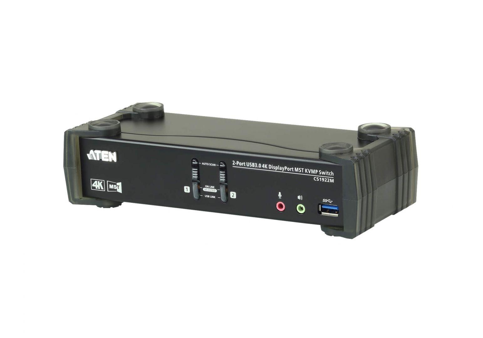 ATEN CS1922M 2-Port USB 3.0 4K DisplayPort MST KVMP Switch (CS1922M)