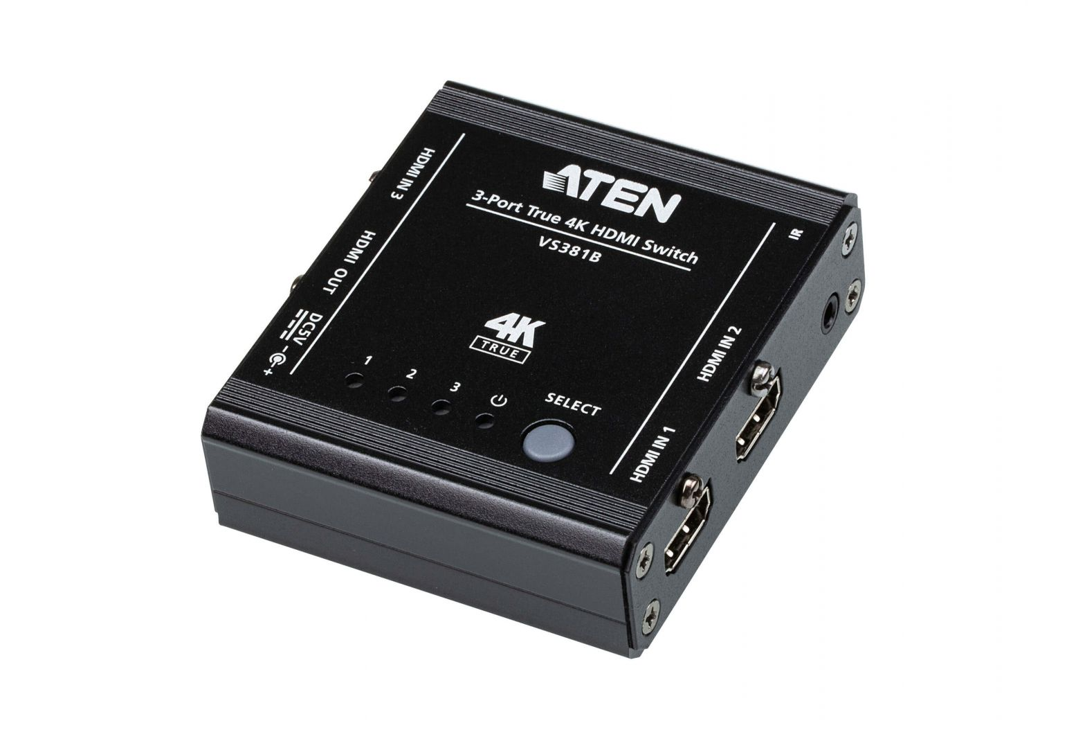 ATEN VS381B 3-Port True 4K HDMI Switch (VS381B)