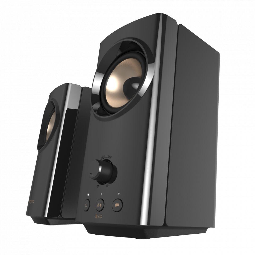 Creative T60 Compact Hi-Fi 2.0 Desktop Speakers Black (51MF1705AA001)