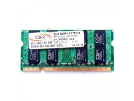 CSX 2GB 667Mhz DDR2 notebook memória