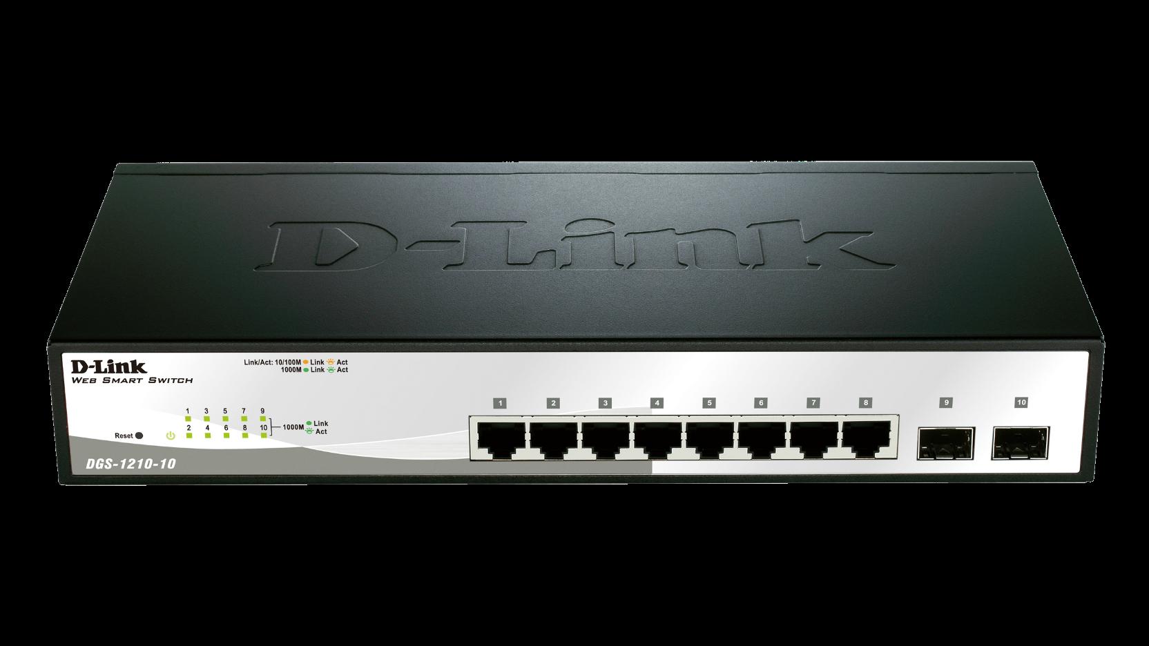 D-Link DGS-1210-10 10 Port Gigabit Smart Switch (DGS-1210-10)
