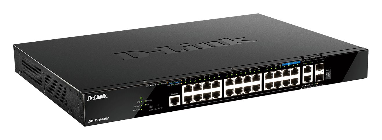D-Link DGS-1520-28MP Layer 3 Stackable Smart Managed Switches (DGS-1520-28MP)