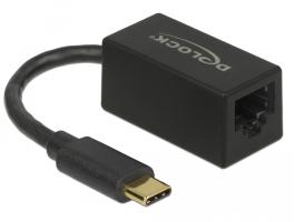 Delock (65904) Adapter SuperSpeed USB (USB 3.1 Gen 1) USB Type-C csatlakozódugóval > Gigabit LAN 10/100/100
