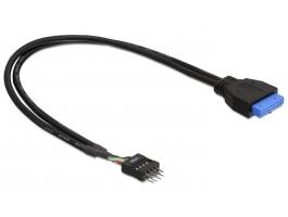 Delock 83095 USB3.0 pin fejes anya - USB2.0 pin fejes apa kábel 30cm