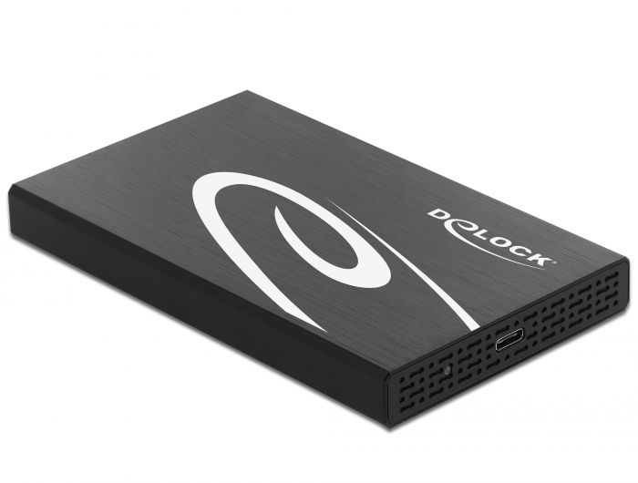 DeLock External Enclosure for 2.5″ SATA HDD/SSD with SuperSpeed USB 10 Gbps (USB 3.1 Gen 2) (42611)