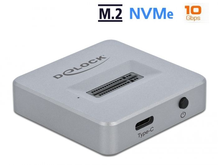 DeLock M.2 Docking Station for M.2 NVMe PCIe SSD with USB Type-C female (64000)