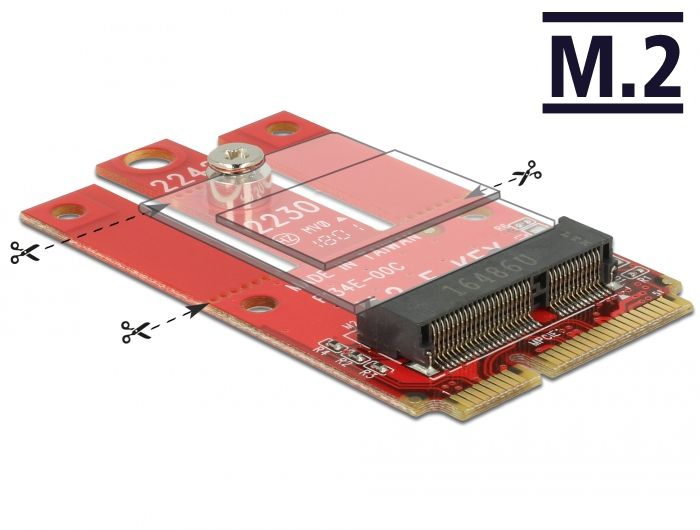 DeLock Mini PCIe > M.2 Key E slot Adapter  (63909)