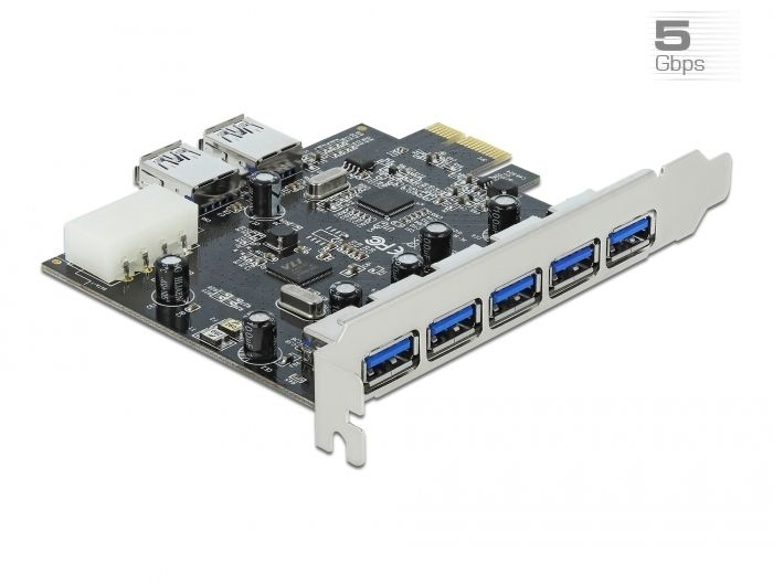 DeLock PCI Express Card > 5 x external + 2 x internal USB 3.0 (89355)