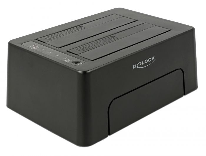 DeLock USB Type-C 3.1 Docking Station for 2x SATA HDD/SSD with Clone Function (63957)
