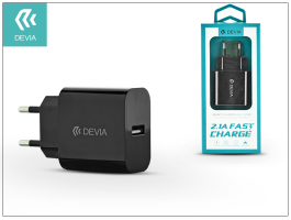 Devia Smart USB hálózati töltõ adapter - Devia Smart USB Fast Charge - 5V/2,1A - black