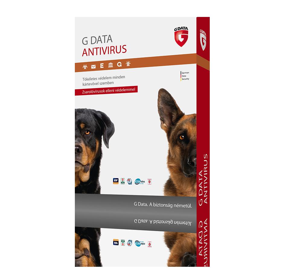 G Data Antivírus 3 felhasználó 1 év online HUN (C1001ESD12003)