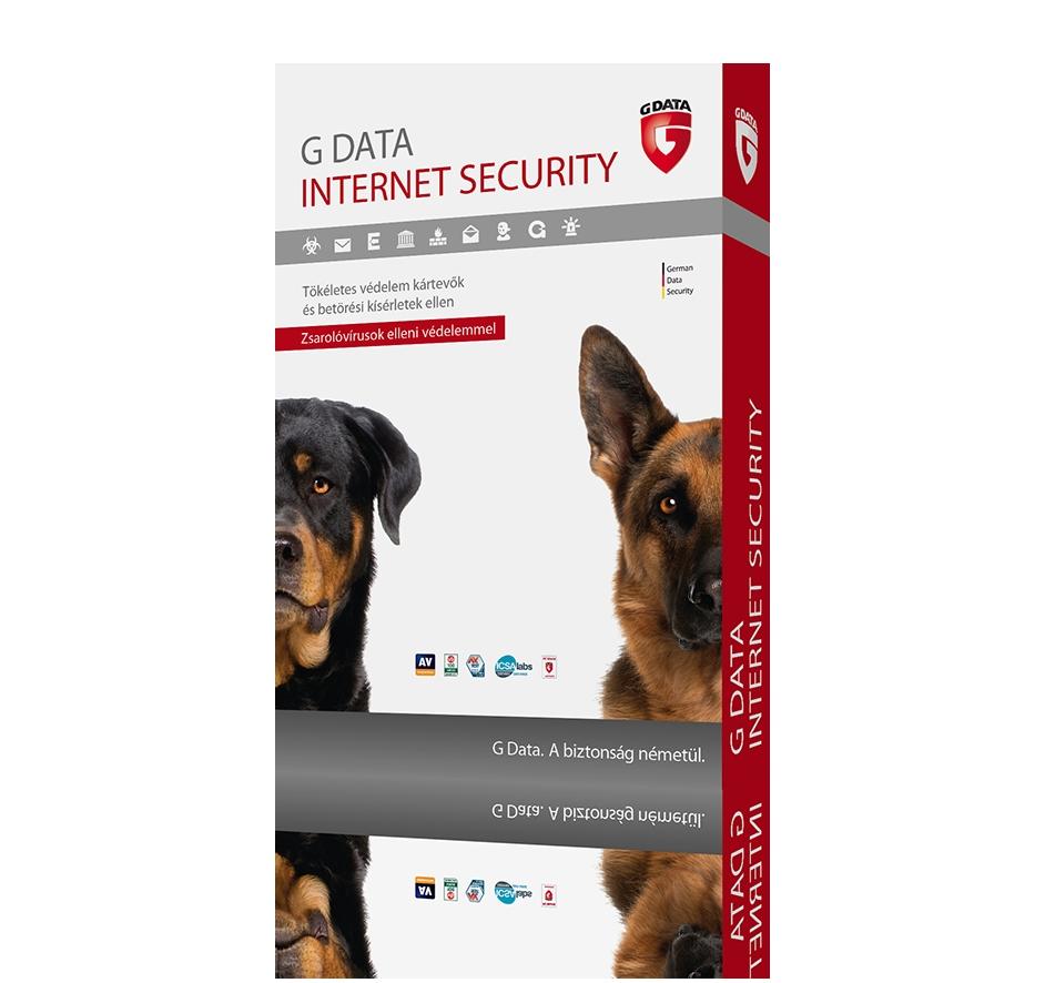 G Data Internet Security 3 felhasználó 1 év online hosszabbítás HUN  (C1002RNW12003)