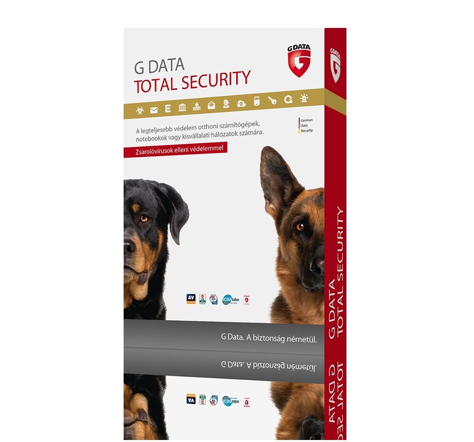 G Data Total Security 1 Felhasználó 1 Év HUN Online Licenc (C1003ESD12001)