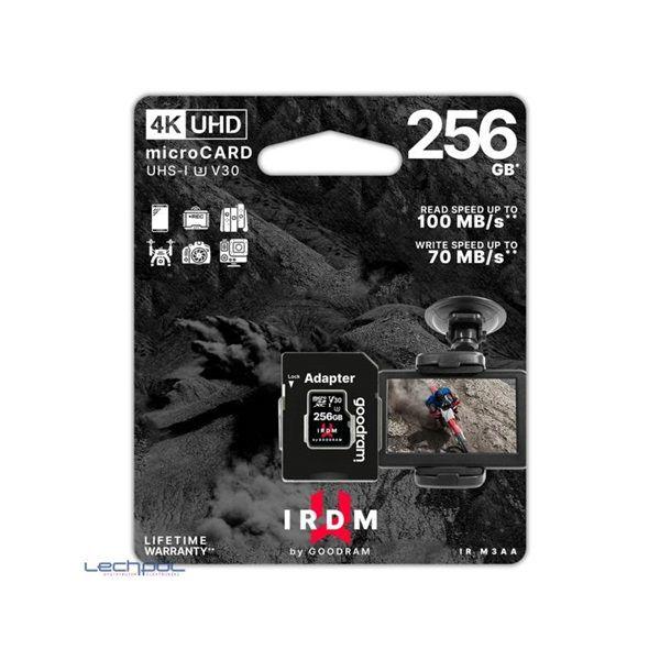 Good Ram 256GB microSDXC UHS-I U3 V30 + adapterrel (IR-M3AA-2560R12)