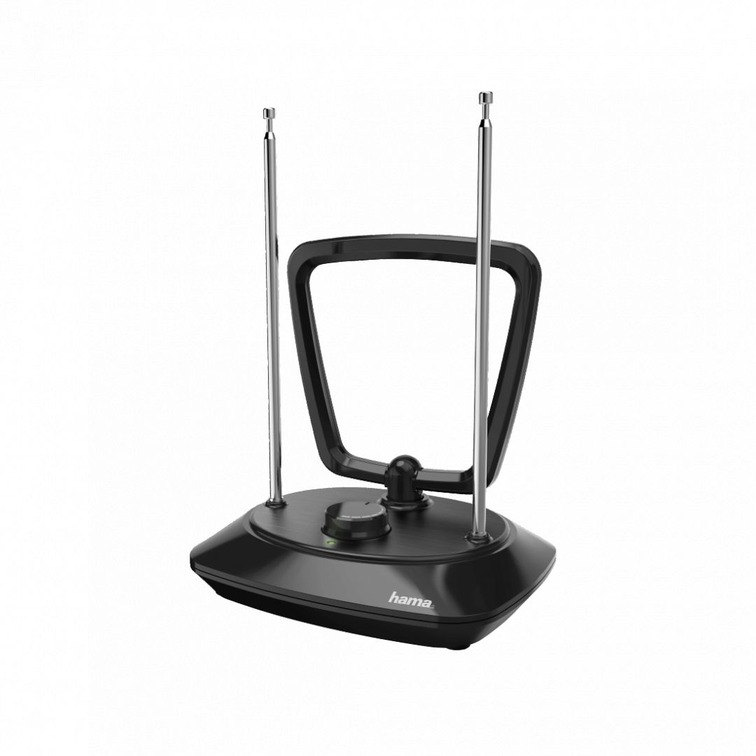 Hama DVB-T/DVB-T2 Indoor Antenna Performance 35 Ring-shaped Active Black (121702)