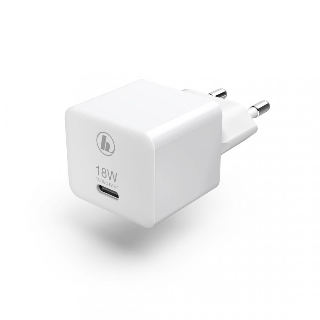 Hama Univerzális Hálózati töltő USB Type-C 3A, 27W White (188350)