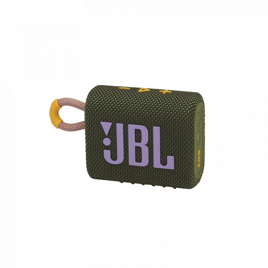 JBL Go 3 Bluetooth Portable Waterproof Speaker Green (JBLGO3GRN)