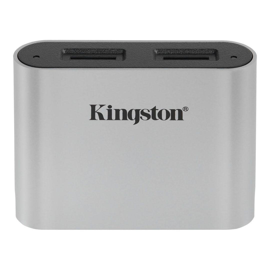 Kingston Workflow microSD USB 3.2 UHS-II Reader Silver (WFS-SDC)