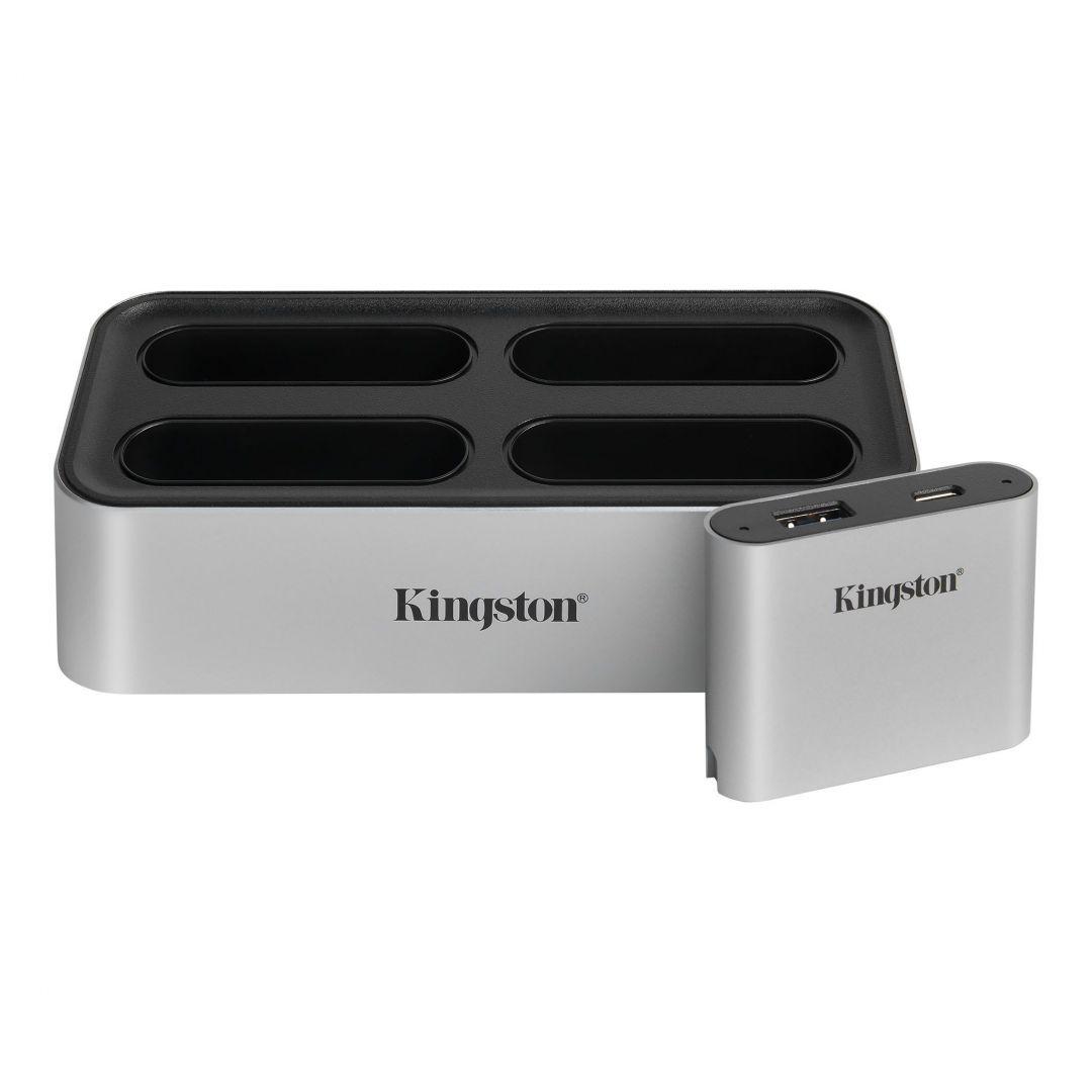 Kingston Workflow USB 3.2 Dock and USB miniHub Silver (WFS-U)