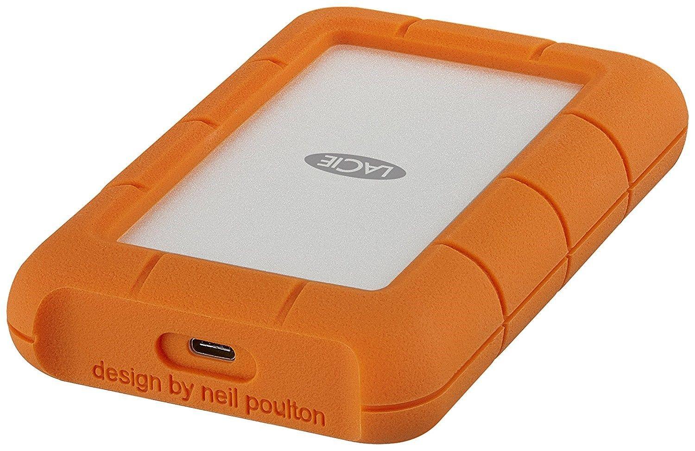 LaCie 2TB 2,5 USB3.0 Rugged Secure USB-C Silver/Orange (STFR2000403)