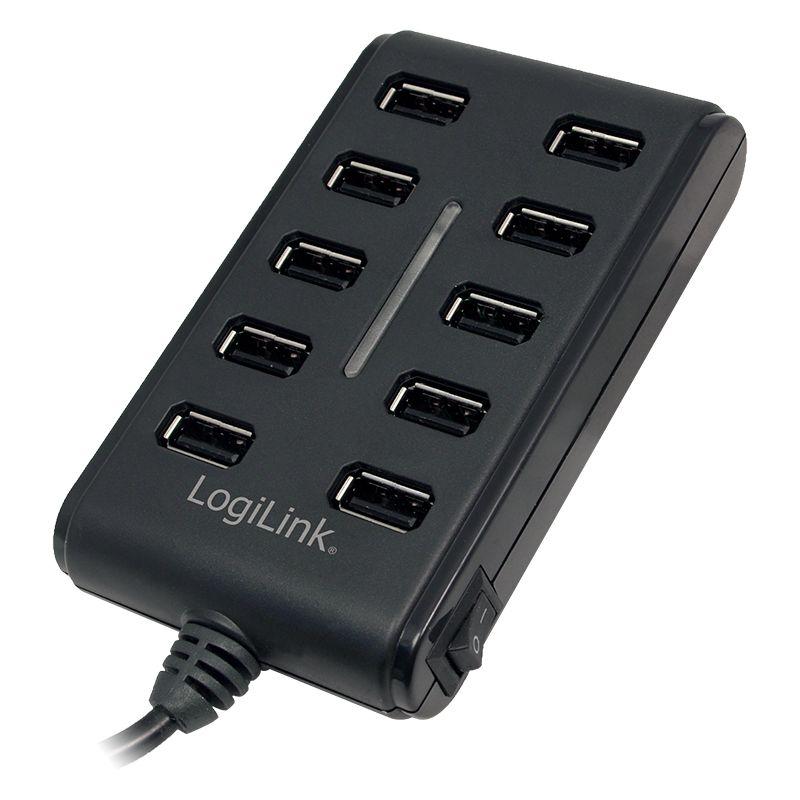 Logilink UA0125 USB2.0 Hub 10-Port with On/Off Switch (UA0125)