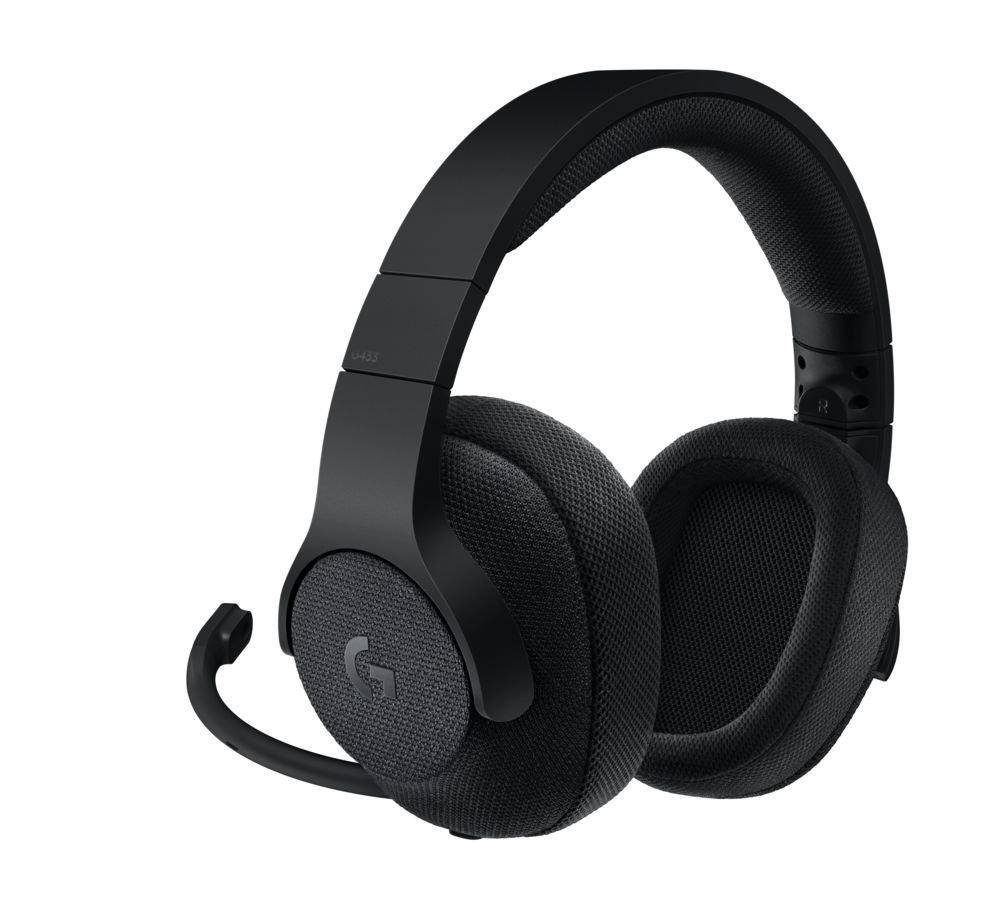 Fejhallgató Logitech G433 Mikrofonnal Fekete