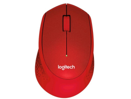 Logitech M330 Silent Plus Wireless Mouse Red egér (910-004911)