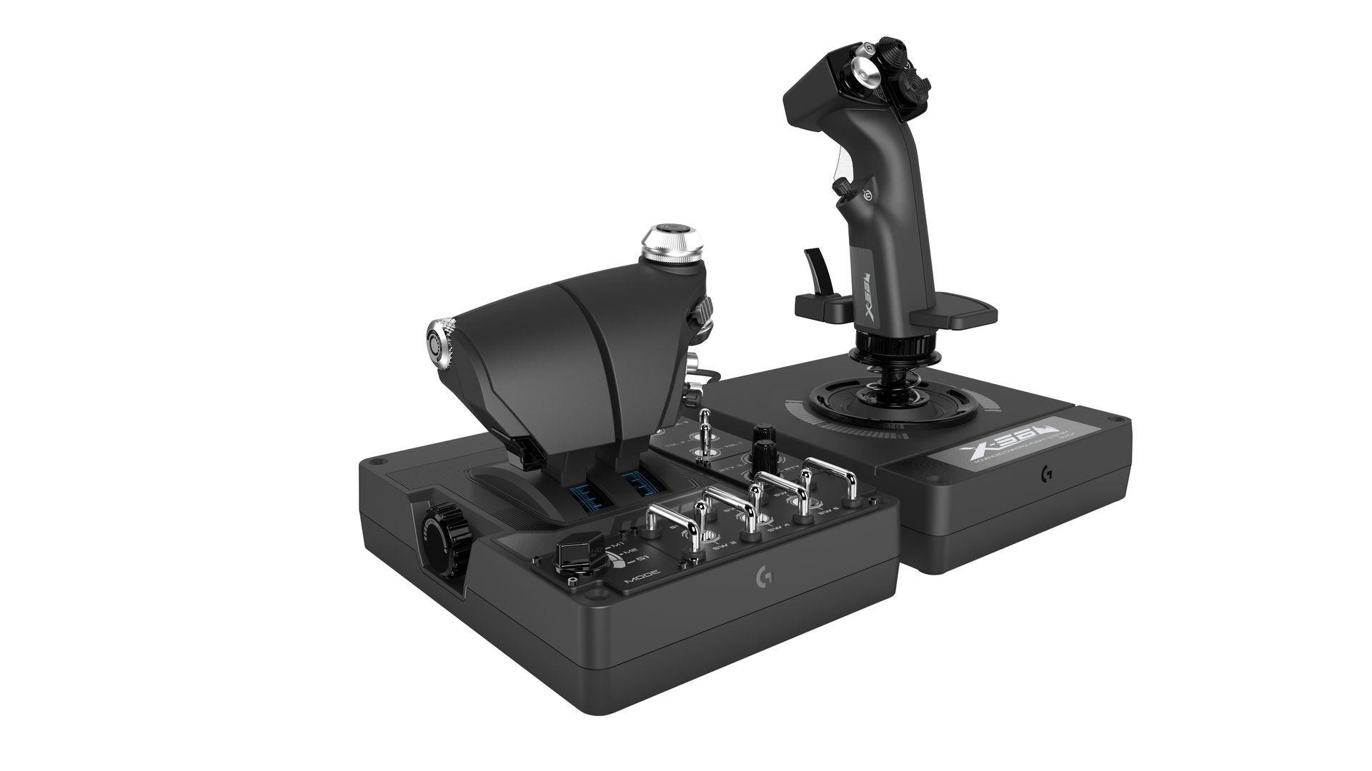 Logitech X56 H.O.T.A.S Throttle and Joystick Black (945-000059)