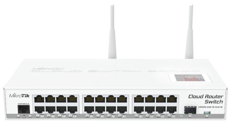 Mikrotik RouterBoard CRS125-24G-1S-2HnD-IN 24port GbE LAN 1xSFP Cloud Router Switch (CRS125-24G-1S-2HND-IN)