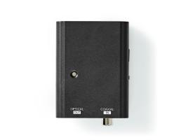 Nedis Digitális Audiokonverter 1 utas Digitális RCA-Aljzat Toslink Aljzat (ACON2505BK)
