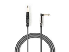 Nedis Egyensúlyozatlan audiokábel 6,35mm-es apa - 6,35mm-es Ferde apa 5m Szürke (COTH23005GY50)