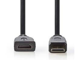 Nedis HDMI Mini - HDMI Aljzat 0,2m Fekete (CVGP34590BK02)