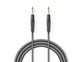 Nedis Monó hangsugárzó-kábel 6,35mm-es apa - 6,35mm-es apa 3m Szürke (COTH23050GY30)