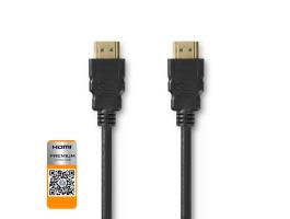 Nedis Premium nagy sebességu HDMI kábel Ethernet átvitellel HDMI csatlakozó - HDMI csatlakozó 5,00m Fekete (CVGP3405