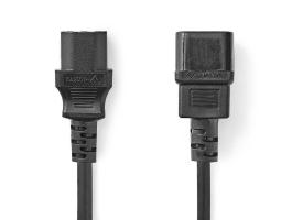 Nedis Tápkábel hosszabbító 5m IEC-320-C14 - IEC-320-C13 (CEGP10500BK50)