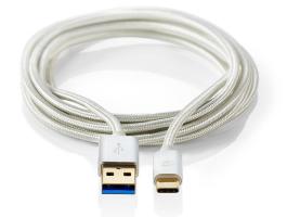 Nedis USB3.0 kábel C Típusú apa - A apa 1m Alumínium (CCTB61600AL10)