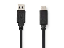 Nedis USB3.1 Kábel (2. Gen.) C Típusú apa - A apa 1m Fekete (CCGP61650BK10)