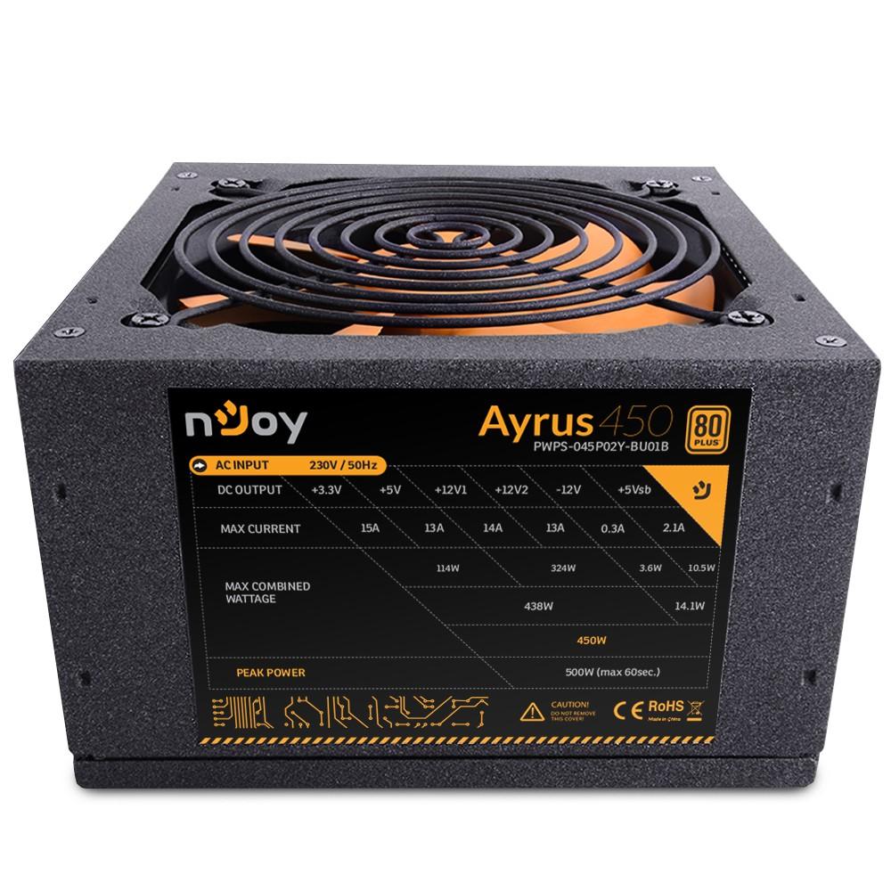Njoy Ayrus Series 450W 80+ (PWPS-045P02Y-BU01B)