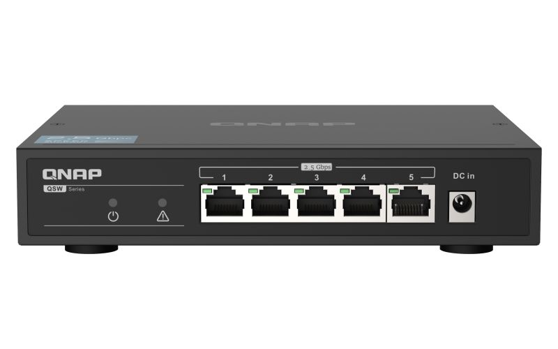 QNAP QSW-1105-5T Instant upgrade to 2.5GbE connection (QSW-1105-5T)