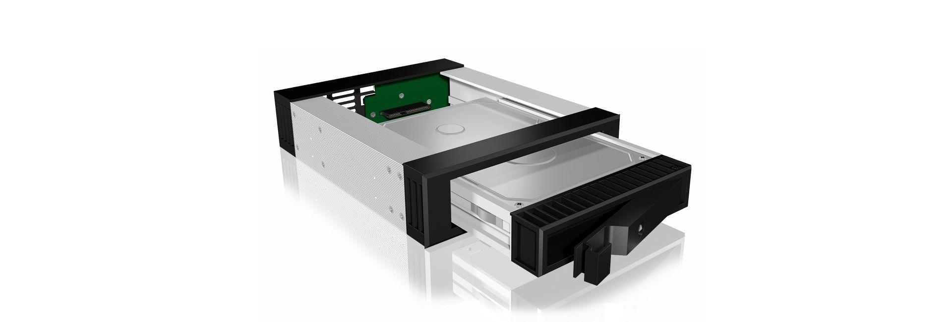 Raidsonic IcyBox IB-129SSK-B Mobile Rack for 3,5/2,5 SATA/SAS HDD Black (IB-129SSK-B)
