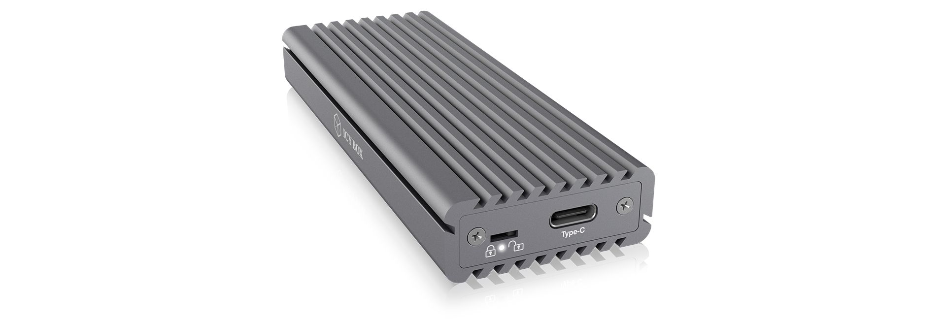 Raidsonic IcyBox IB-1817M-C31 External Type-C aluminium enclosure for M.2 NVMe SSD Grey (IB-1817M-C31)