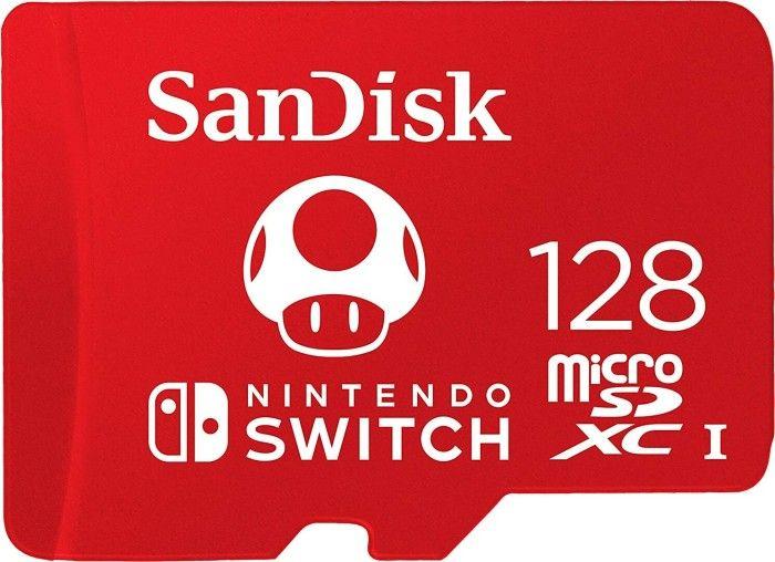 Sandisk 128GB microSDXC Class 10 UHS-1 U3 A1 For Nintendo Switch (183552)