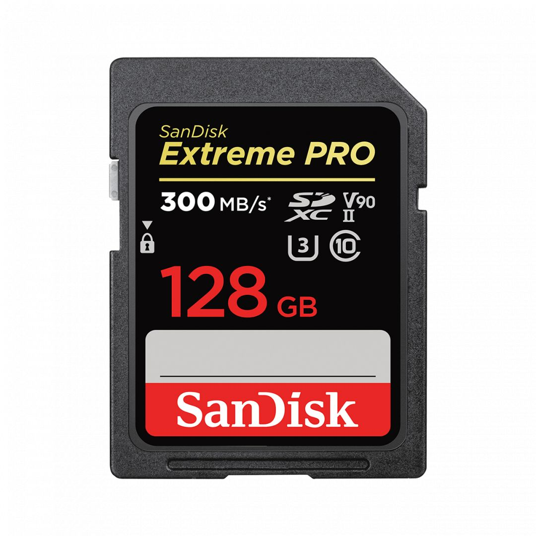 Sandisk 128GB SDXC Extreme Pro UHS-II CL10 U3 V90 (121506)