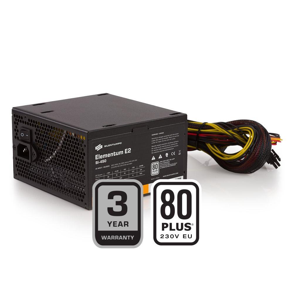 SilentiumPC 450W 80+ Elementum E2 Bulk (SPC197)