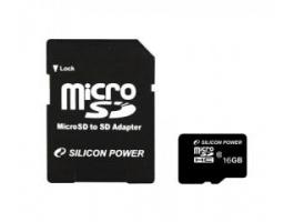 Silicon Power 16GB CL10 + 1 adapteres microSDHC memóriakártya